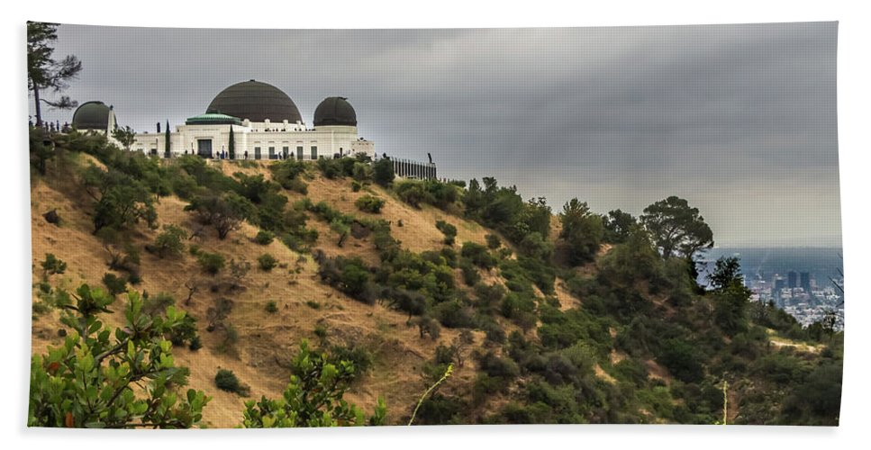 Southern California Bath Sheet featuring the photograph Griffith Park Observatory by Ed Clark
