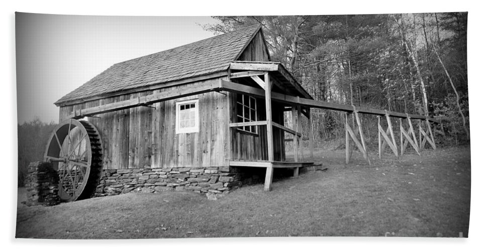 Historical Grist Mill Bath Sheet featuring the photograph Grist Mill by Catherine Reusch Daley