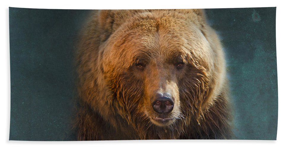Bear Bath Sheet featuring the photograph Grizzly Bear Portrait by Betty LaRue