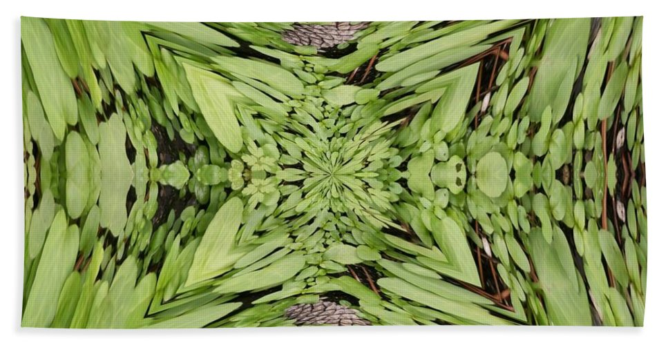 Nature Hand Towel featuring the digital art Ground Cover Vortex by Tim Allen
