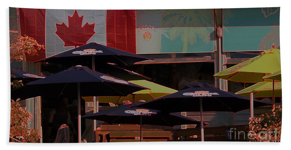 Canada Bath Sheet featuring the photograph Growling Gator Canada 150 Two by John Scatcherd