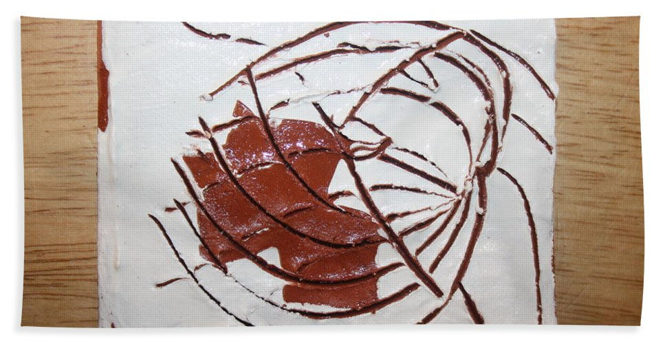 Jesus Hand Towel featuring the ceramic art Growth - Tile by Gloria Ssali