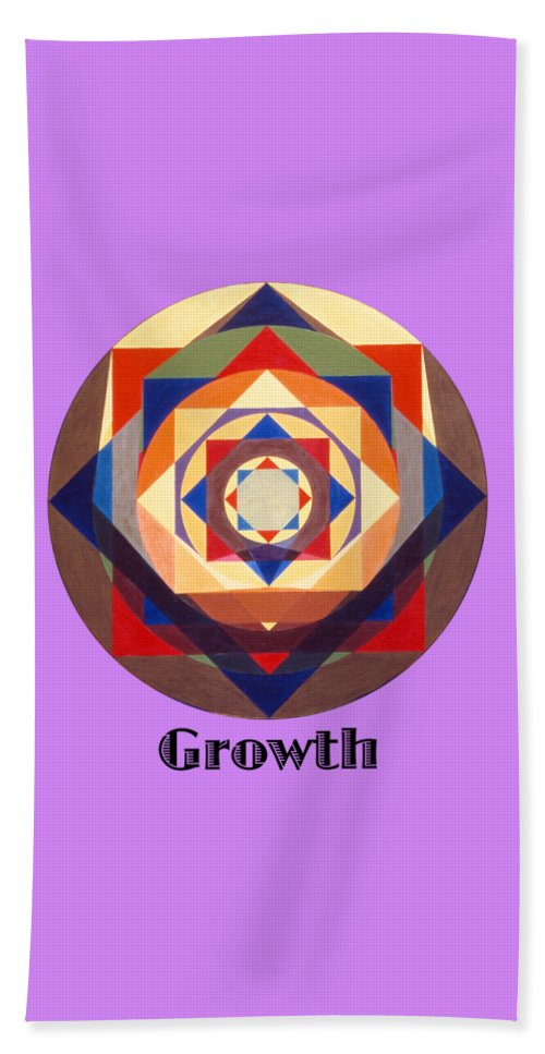 Painting Bath Towel featuring the painting Growth text by Michael Bellon