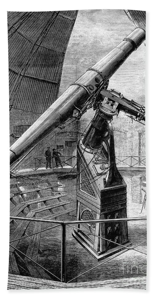 Historic Hand Towel featuring the photograph Grubb Refractor Telescope, Vienna, 1881 by Wellcome Images