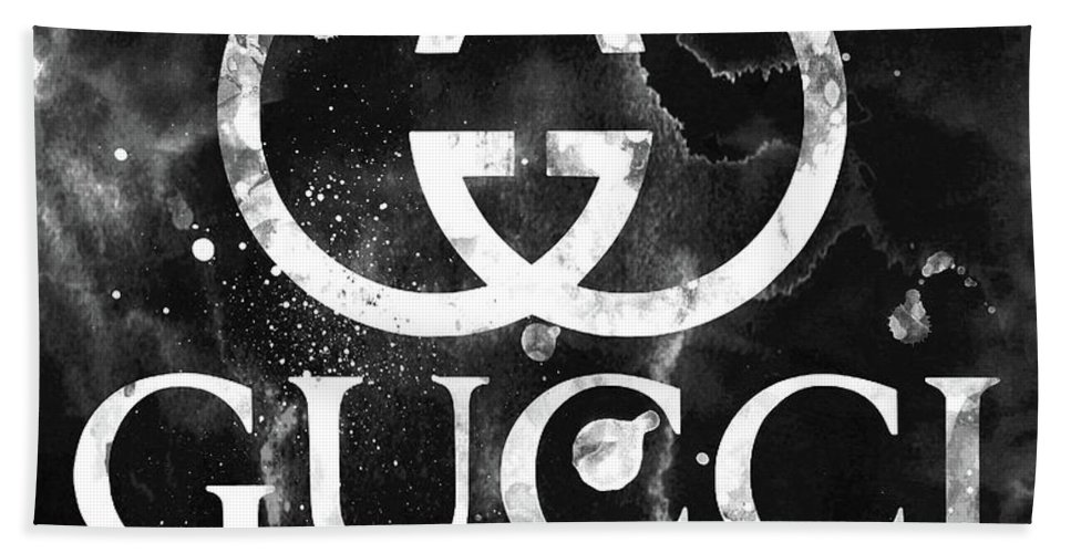 d629ca459c Gucci Logo Black 2 Hand Towel for Sale by Del Art
