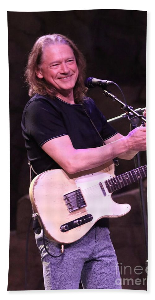 Vocals Hand Towel featuring the photograph Guitarist Robben Ford by Concert Photos