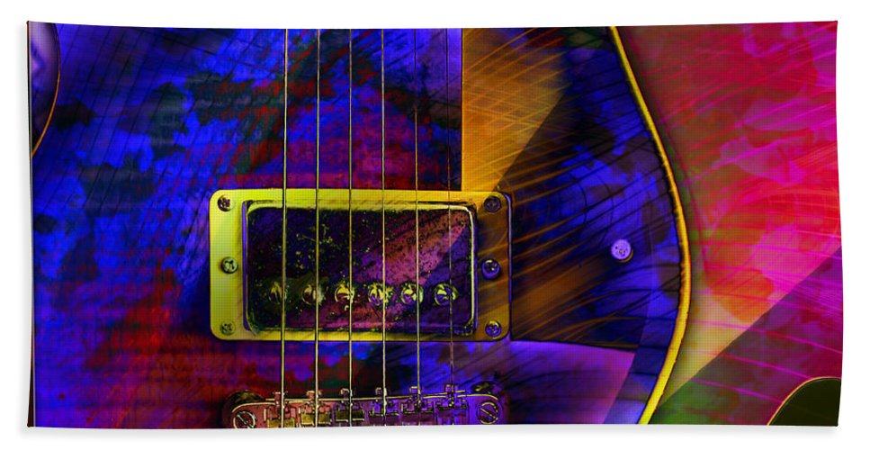Guitars Bath Sheet featuring the digital art Guitars by Barbara Berney