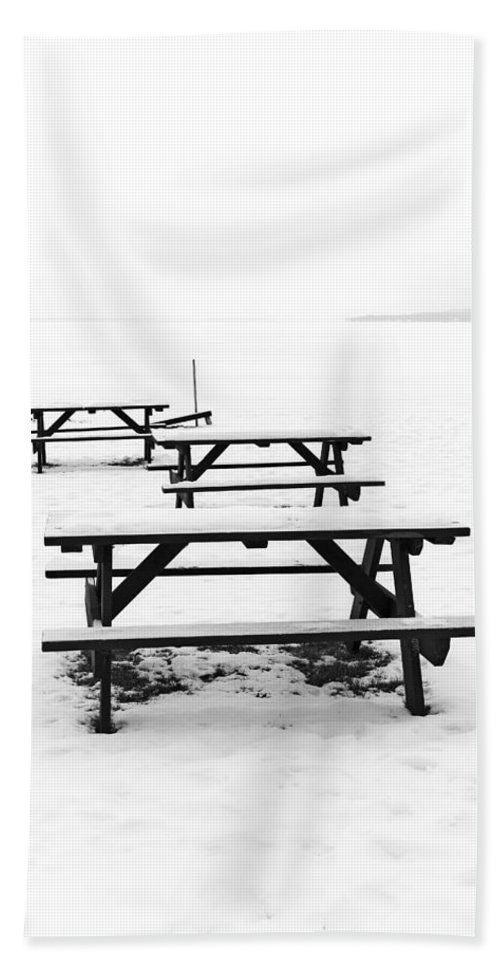 Gull Lake Hand Towel featuring the photograph Gull Lake Winter Study 3 by Robert Meyers-Lussier