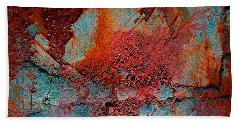 Rust Bath Sheet featuring the photograph Gutters That Speak by The Artist Project