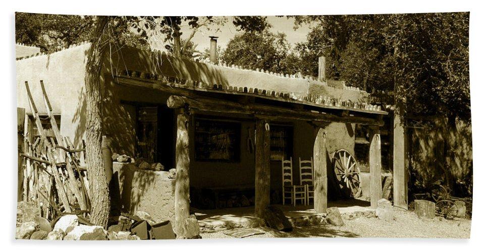 Hacienda Bath Sheet featuring the photograph Hacienda by David Lee Thompson