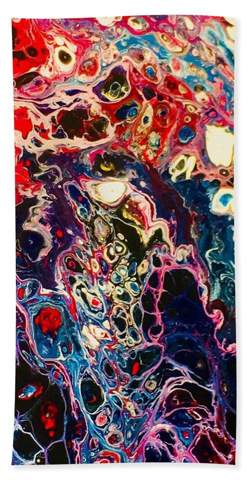 Acrylic Bath Sheet featuring the mixed media Bright On Black by B R Wiatrek