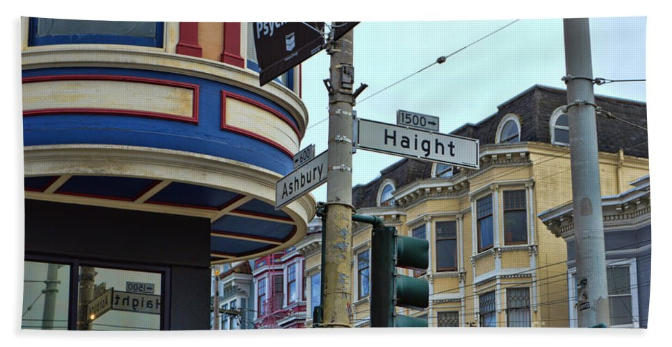 Haight-ashbury Hand Towel featuring the photograph Haight-ashbury by Tommy Anderson