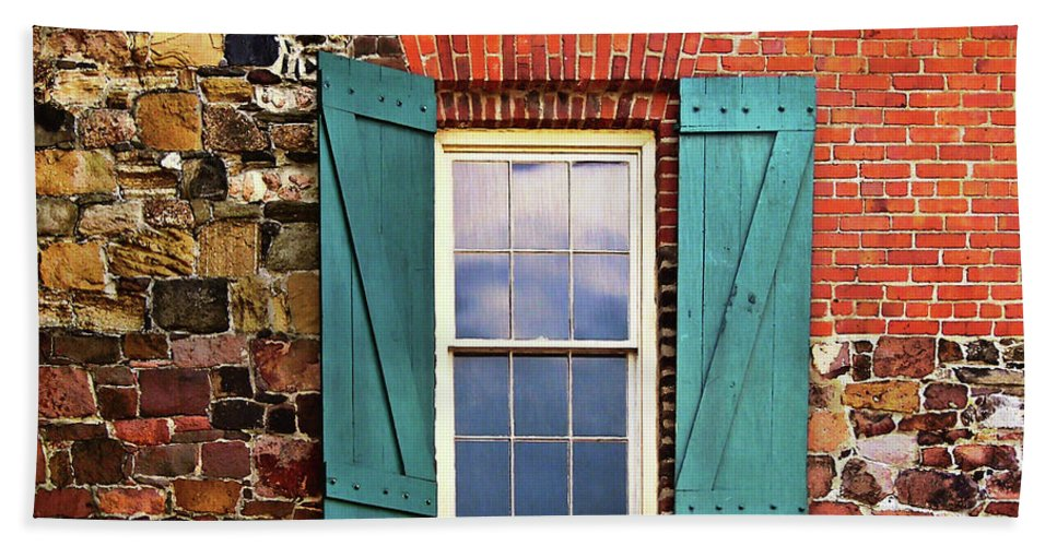 Window Bath Sheet featuring the photograph Haint Blue by JAMART Photography