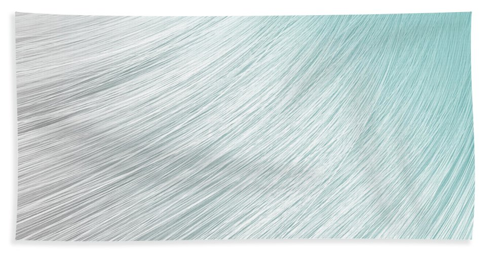 Grey Bath Towel featuring the digital art Hair Blowing Closeup by Allan Swart