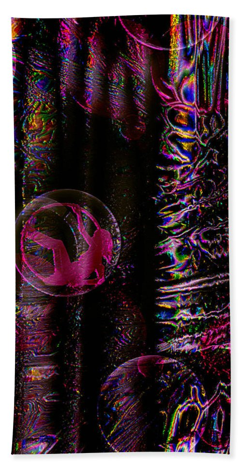 Paula Ayers Hand Towel featuring the digital art Hall Of Dreams by Paula Ayers