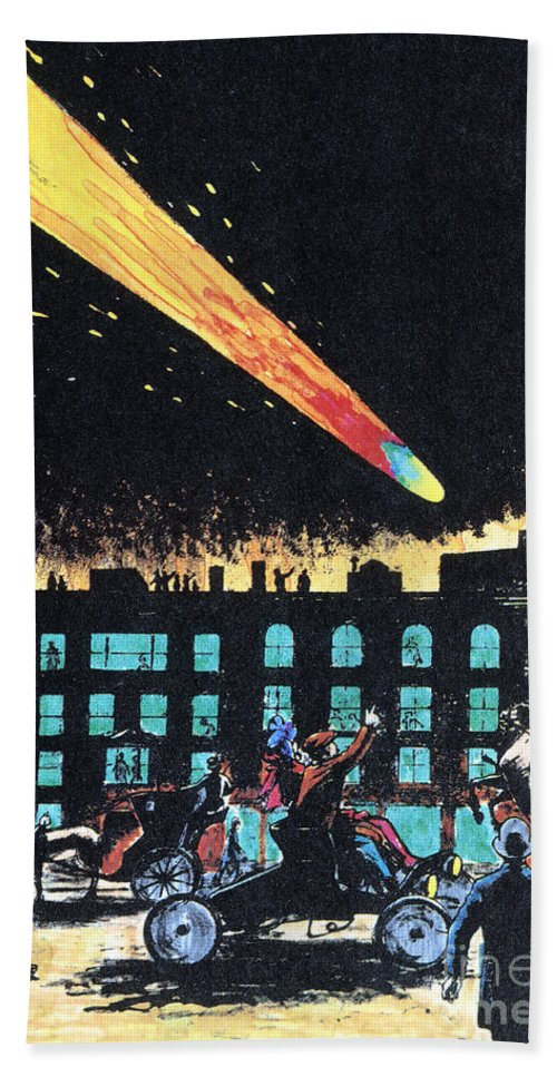 1910 Hand Towel featuring the photograph Halleys Comet, 1910 by Granger