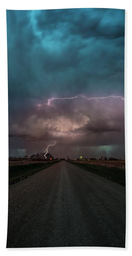 Lightning Bath Towel featuring the photograph Hammer Of Thor by Aaron J Groen