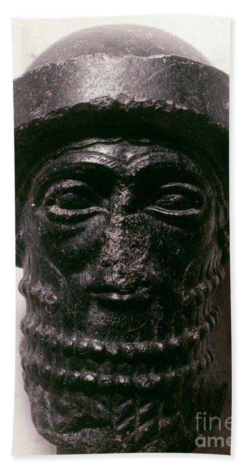 1750 B.c. Hand Towel featuring the photograph Hammurabi (d. 1750 B.c.) by Granger