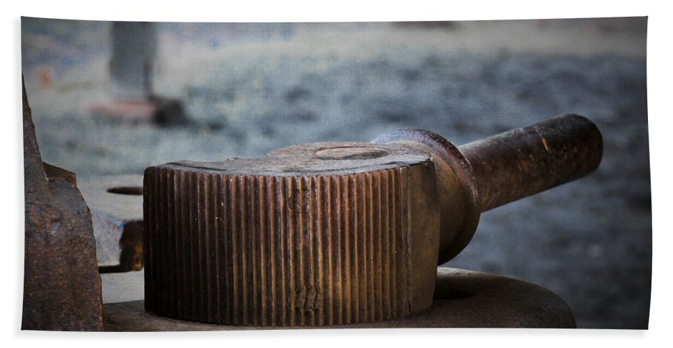Metal Hand Towel featuring the photograph Handle Bar by Marnie Patchett