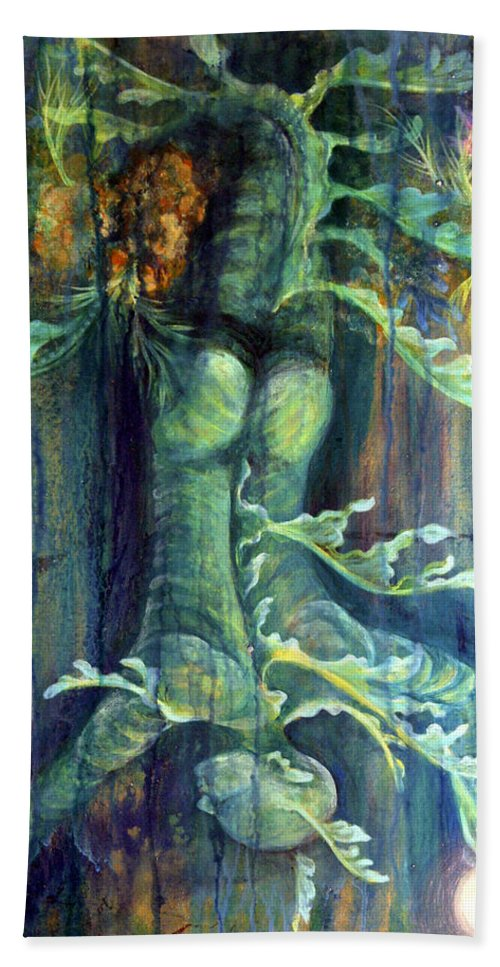 Florida Reef Bath Sheet featuring the painting Hanged Man by Ashley Kujan