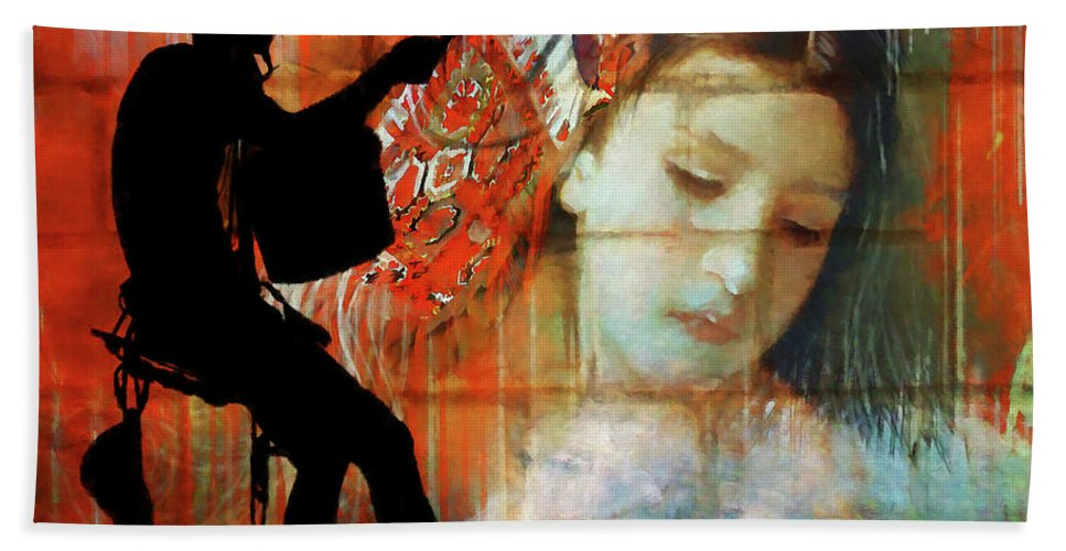 Artist Bath Sheet featuring the digital art Hanging On To The Dream by Ronald Bolokofsky