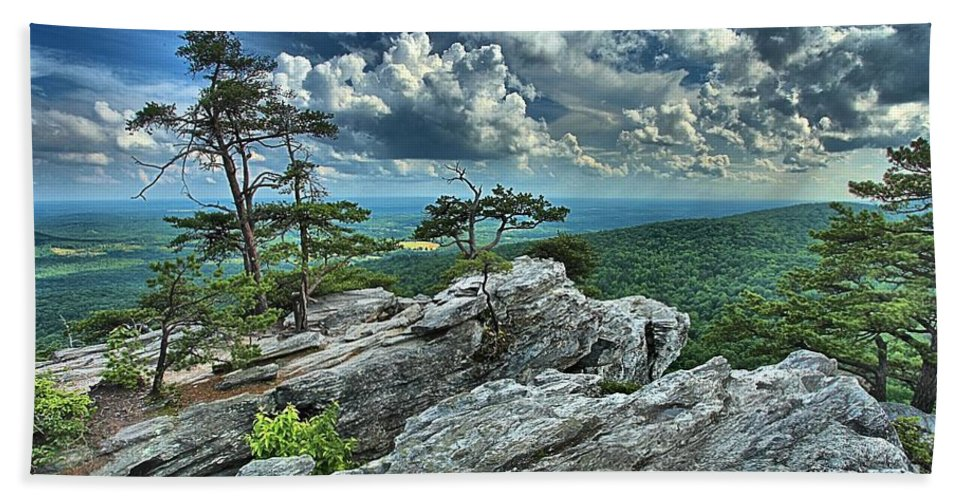 Hanging Rock State Park Hand Towel featuring the photograph Hanging Rock Overlook by Adam Jewell