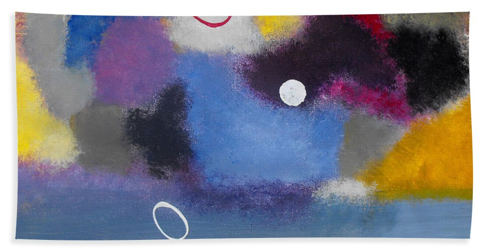 Color Hand Towel featuring the painting Happiness II by Ruth Palmer