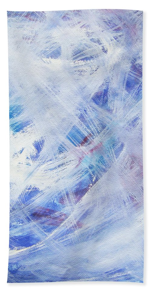 Abstract Bath Sheet featuring the painting Happy Abstract by Lee Serenethos