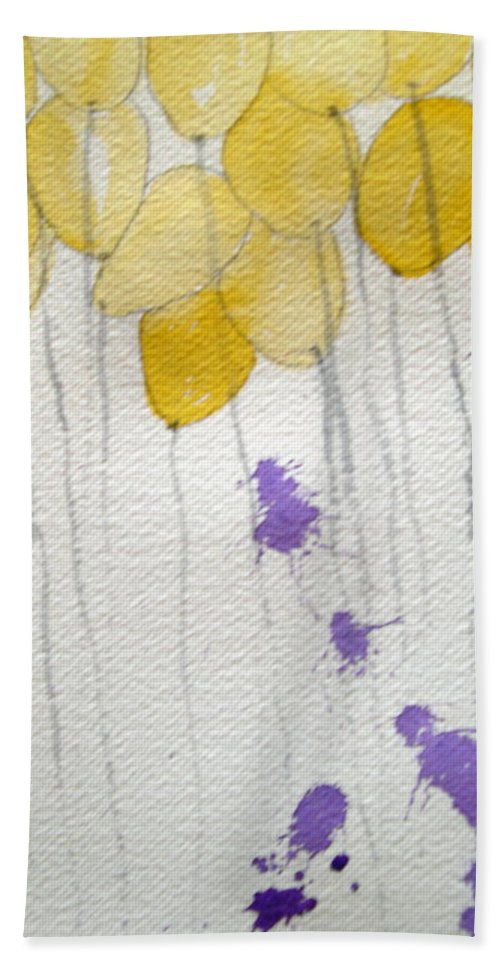 Balloon Celebrate Fun Happy Play Birthday Hand Towel featuring the painting Happy Birthday Ashleigh by Patricia Caldwell