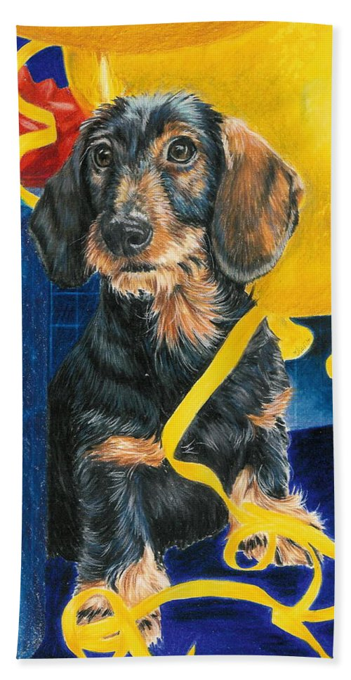 Dogs Bath Sheet featuring the drawing Happy Birthday by Barbara Keith