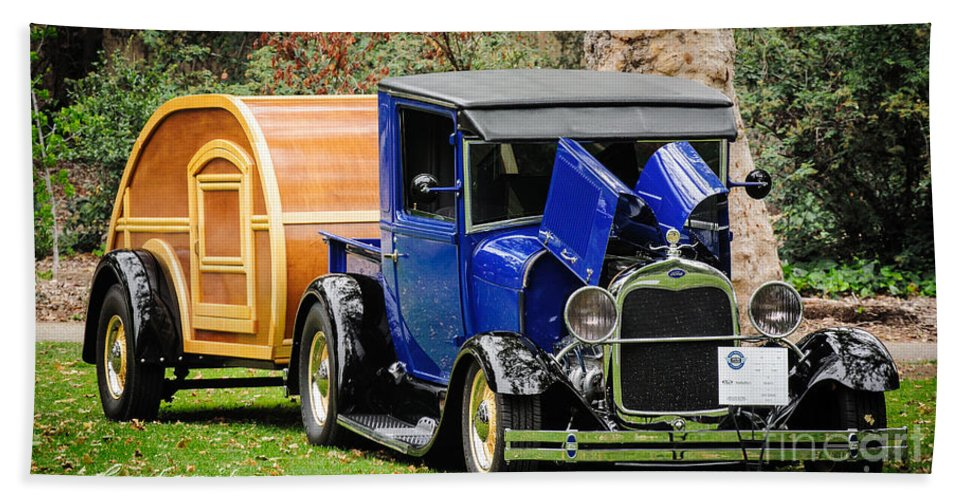 Model A Bath Sheet featuring the photograph Happy Camper by Customikes Fun Photography and Film Aka K Mikael Wallin