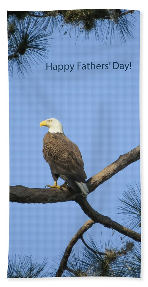 Holiday Hand Towel featuring the photograph Happy Father's Day by Zina Stromberg
