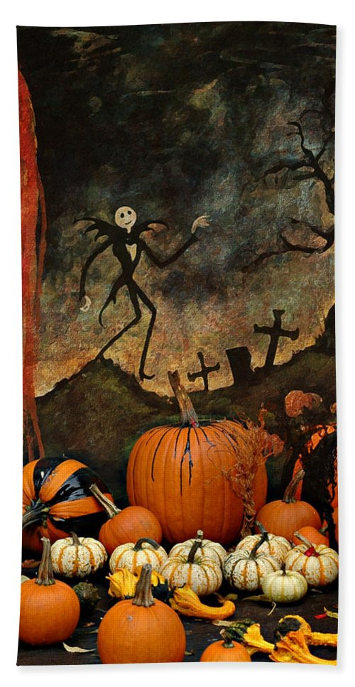 Halloween Bath Sheet featuring the photograph Happy Halloween by Jeff Burgess