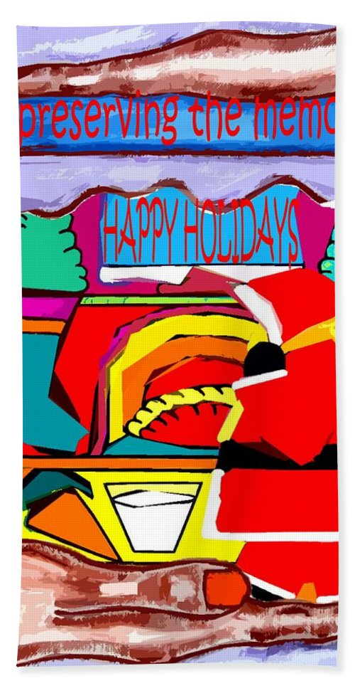 Christmas Bath Sheet featuring the painting Happy Holidays 43 by Patrick J Murphy