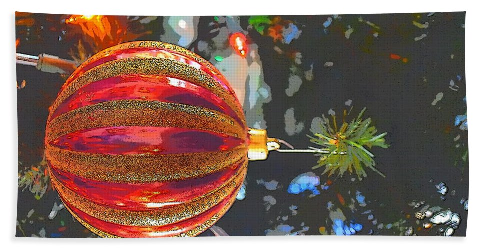 Ornament Bath Sheet featuring the photograph Happy Holidays by Thomas Sexton