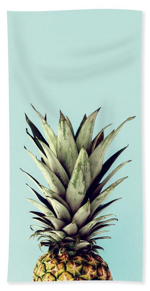 Bath Towel featuring the digital art Happy Pinneaple by Rafael Farias