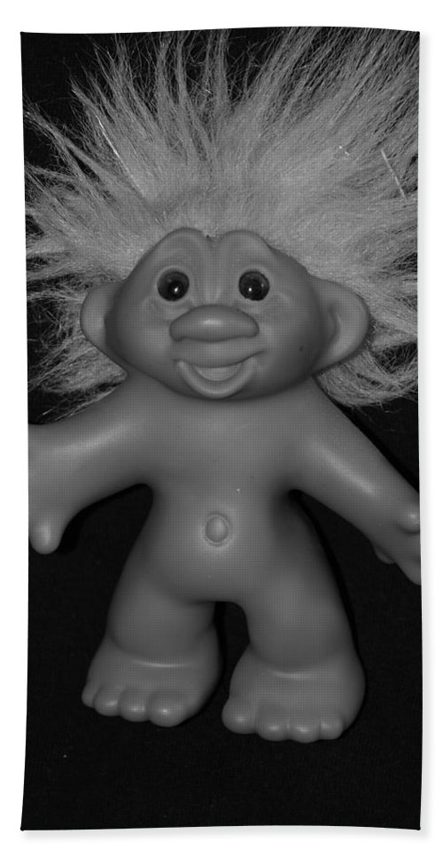 Happy Bath Sheet featuring the photograph Happy Troll by Rob Hans