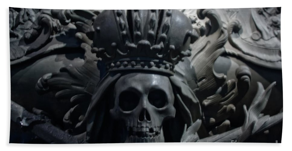 Hapsburg Tomb Mortuary Dead Burial Vienna Austria Bath Towel featuring the photograph Hapsburg Tombs Vienna Austria by Thomas Marchessault
