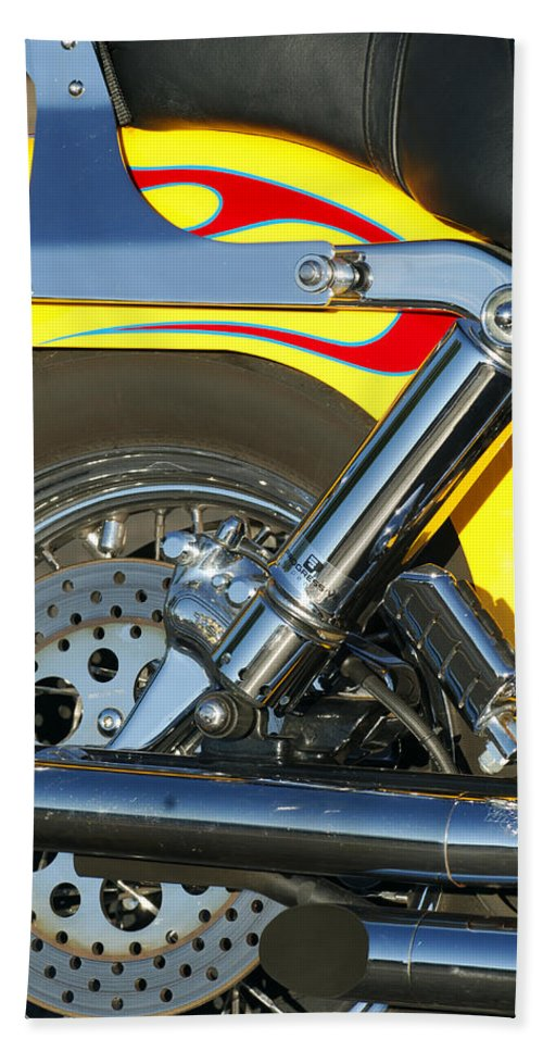 Harley-davidson Twin Cam Hand Towel featuring the photograph Harley-davidson Twin Cam 88 Rear Wheel by Jill Reger
