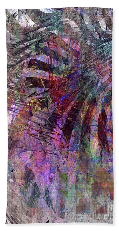 Harmonic Resonance Hand Towel featuring the digital art Harmonic Resonance by John Beck