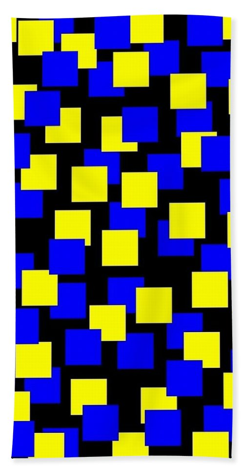 Abstract Bath Towel featuring the digital art Harmony 1 by Will Borden