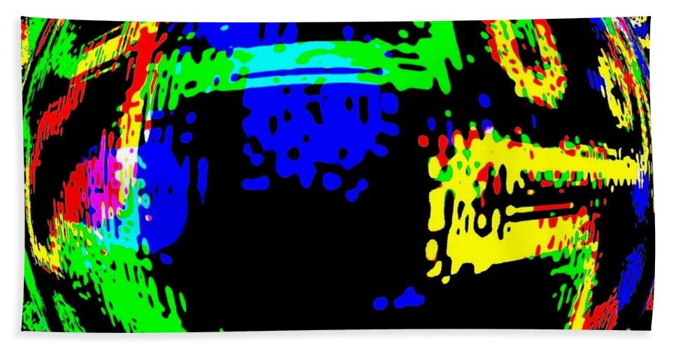Abstract Hand Towel featuring the digital art Harmony 13 by Will Borden