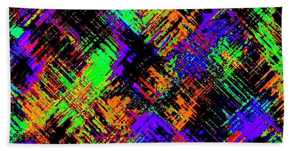 Abstract Hand Towel featuring the digital art Harmony 15 by Will Borden
