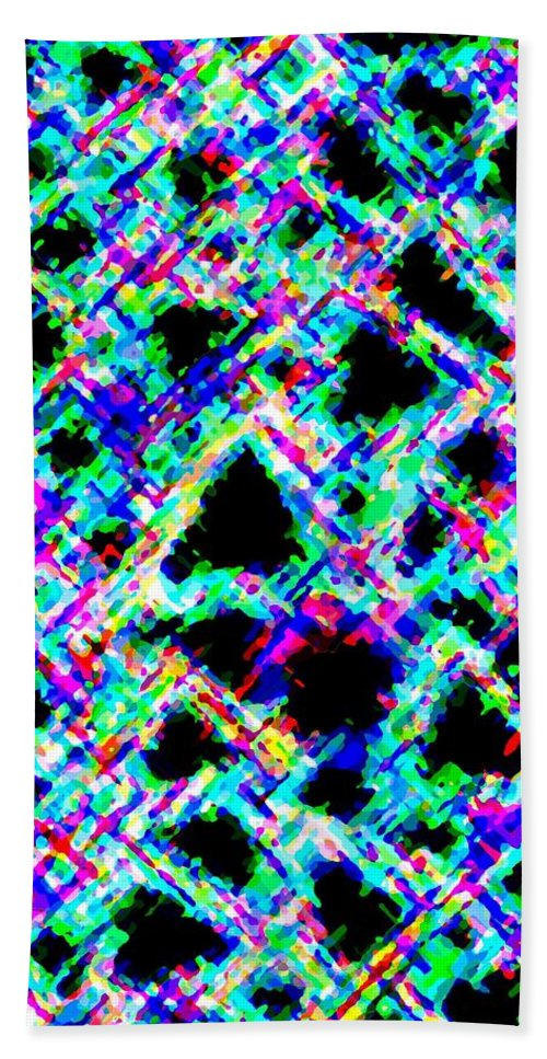 Abstract Bath Sheet featuring the digital art Harmony 18 by Will Borden