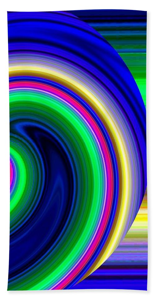 Abstract Hand Towel featuring the digital art Harmony 19 by Will Borden