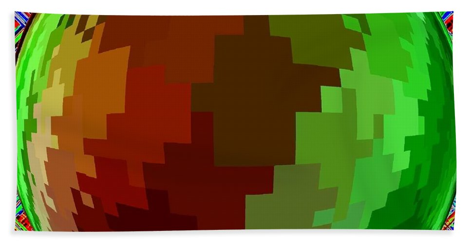 Abstract Hand Towel featuring the digital art Harmony 2 by Will Borden