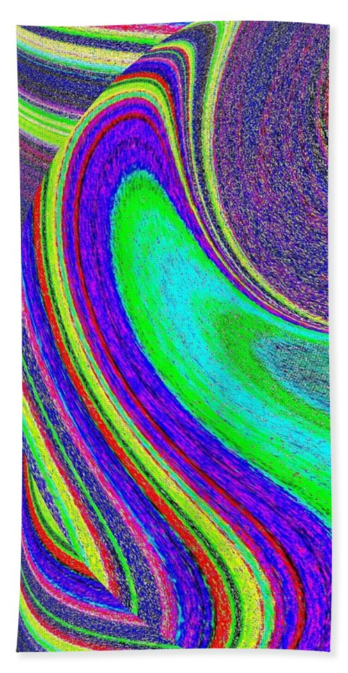Abstract Bath Towel featuring the digital art Harmony 21 by Will Borden