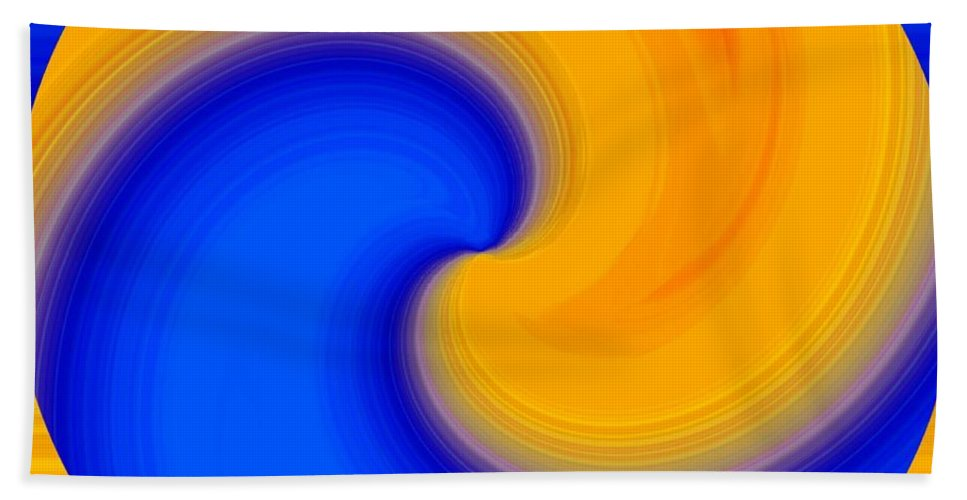 Abstract Hand Towel featuring the digital art Harmony 23 by Will Borden