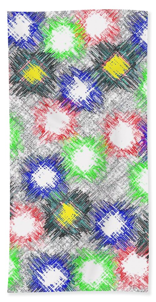 Abstract Bath Towel featuring the digital art Harmony 32 by Will Borden