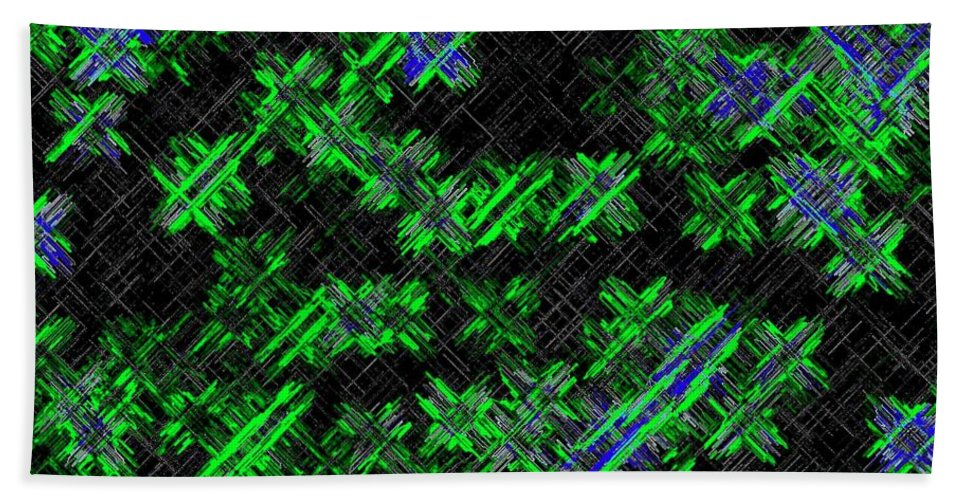 Abstract Hand Towel featuring the digital art Harmony 33 by Will Borden